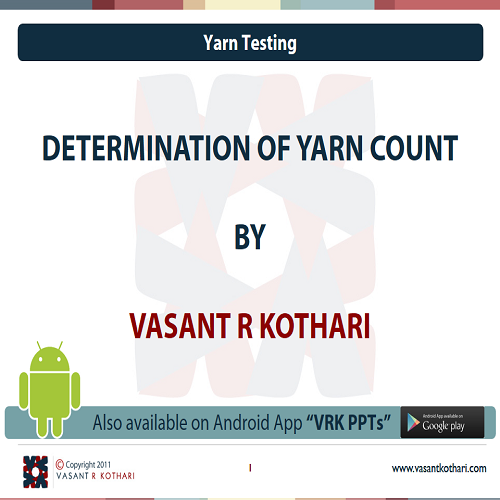 08DeterminationofYarnCount