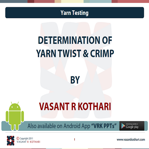 09DeterminationofYarnTwist