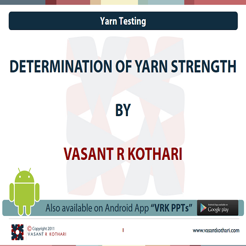 10DeterminationofYarnStrength
