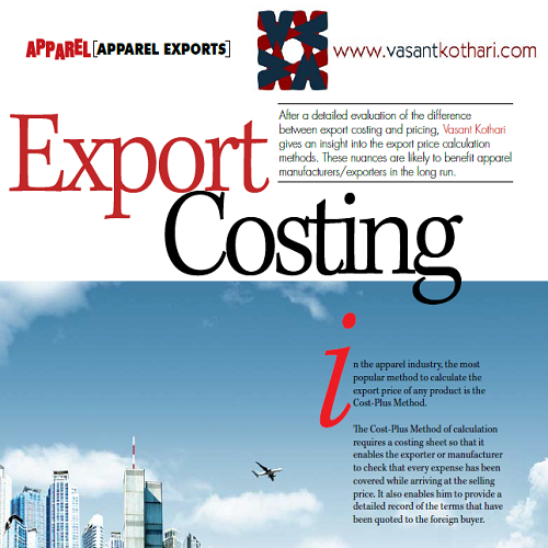 8Export-Costing