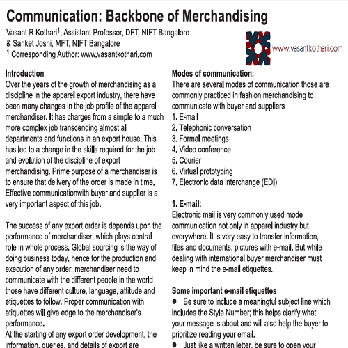 CommunicationBackboneofMerchandising