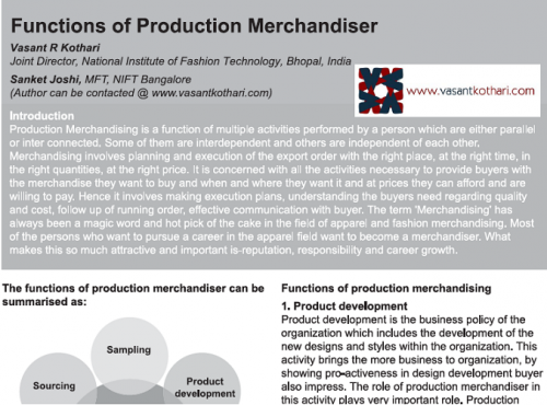 FunctionsofProductionMerchandisers