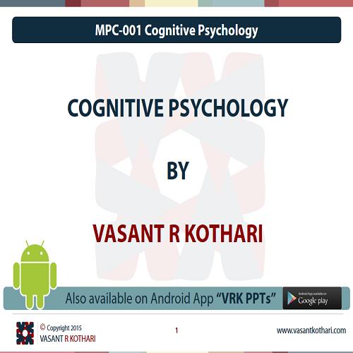 MPC-001CognitivePsychologyLearningandMemory