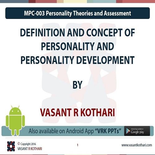 MPC-003-01-01DefinitionandConceptofPersonalityandPersonalityDevelopment