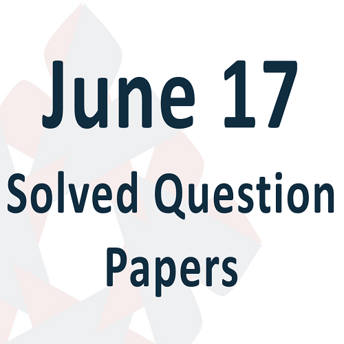 00 June 17 Solved Question Papers